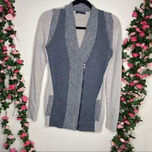 🌹PattyBoutik Silver Gray Button Up Cardigan Large